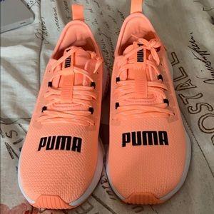 Peach puma shoes